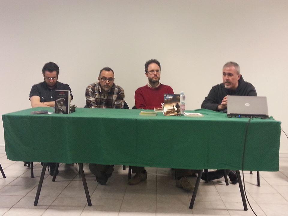 Alla ItalCon 2013 di Bellaria, con (da sin.) Giovanni De Matteo, Francesco Verso e Sandro Battisti