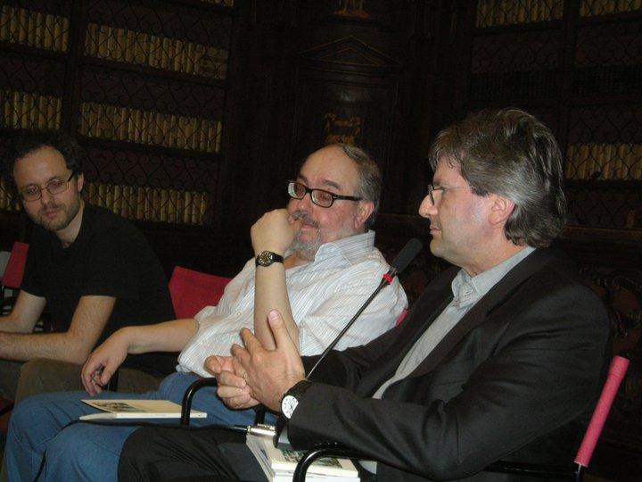 Al Gabinetto Vieusseux (Firenze) con (da sin.) Giuseppe Panella e Fabrizio Centofanti