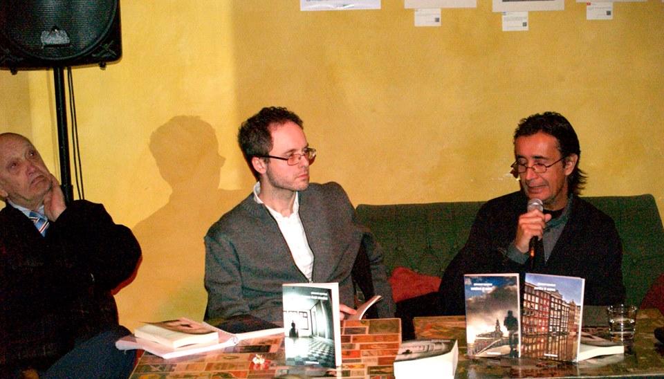 """Con Corrado Marsan e Vieri Tommasi Candidi alla presentazione de """"La casa degli anonimi"""" (Firenze. 18 dicembre 2014)"""