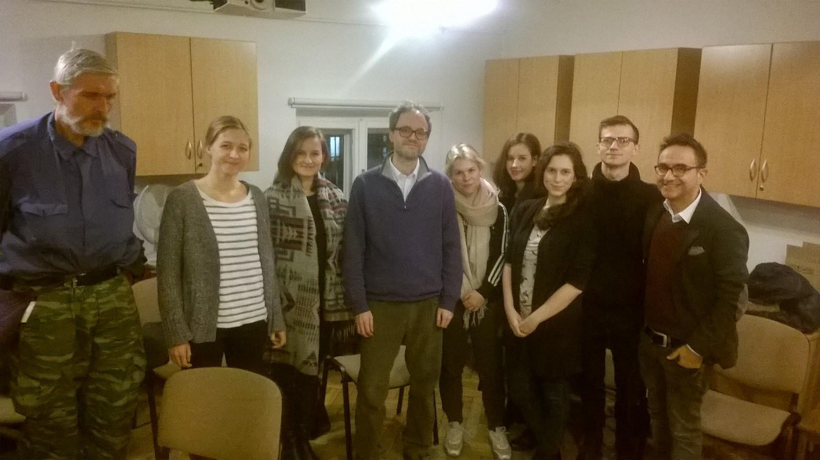 Presentazione presso l'Università di Varsavia con il Dr. Stefano Redaelli (novembre 2016).